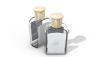 Rectangular Cosmetic Transparent Glass Vial