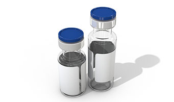 Antibiotic Transparent Round Glass Vial with Lid