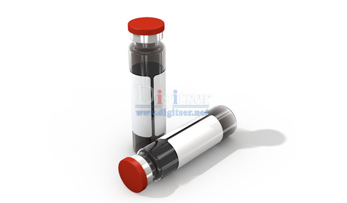 Brown Translucent Oral Liquid Round Glass vial with Lid